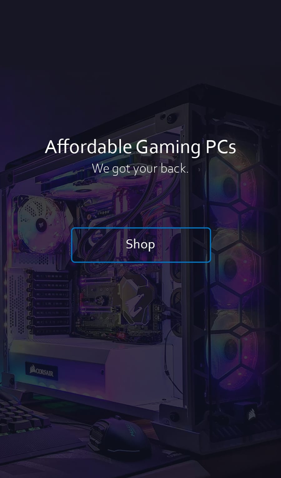 Gaming Pc Sleek Landing Homepage