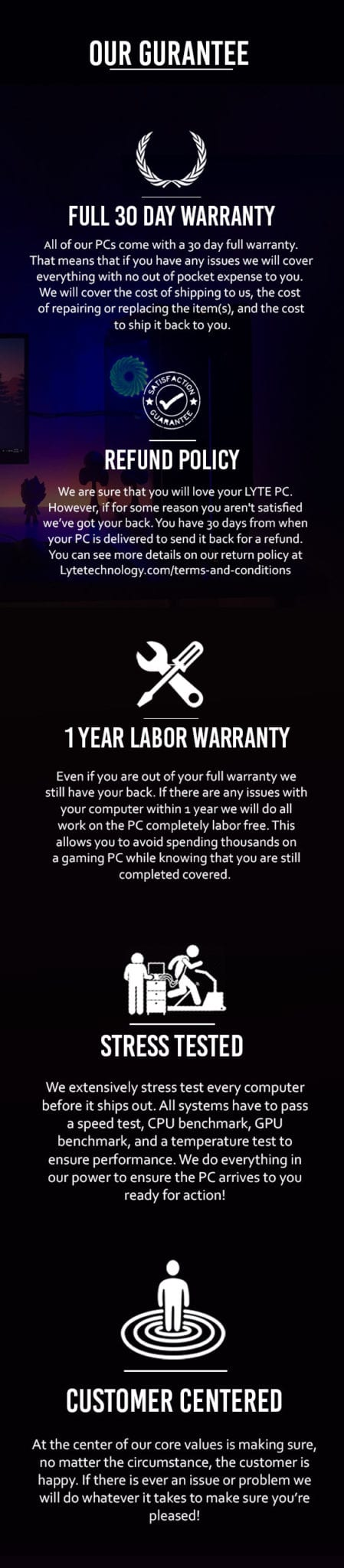 Warranty Page For Website Mobile